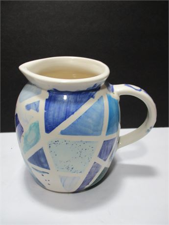 """Vintage Hand Crafted 8""""  Small Pottery Pitcher"""