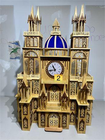 Vintage Shopiere Clock - Scroll Saw Created Fretwork Masterpiece.