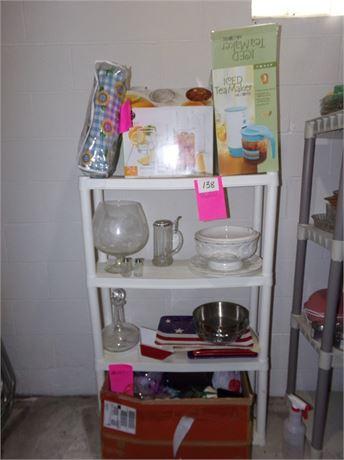Plastic Shelf w/ Entire Contents