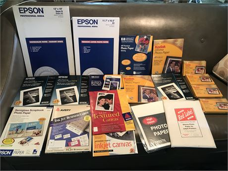 Lot of Photo and Printing Paper including Business cards & Brochures