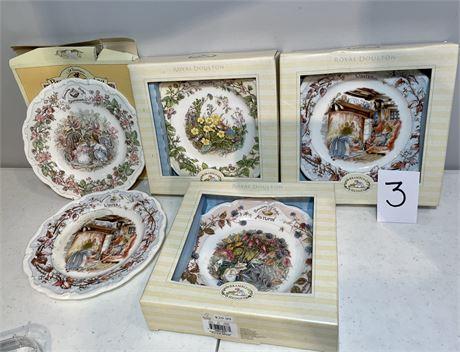 Royal Doulton Brambley Hedge Seasonal Plates - Bone China