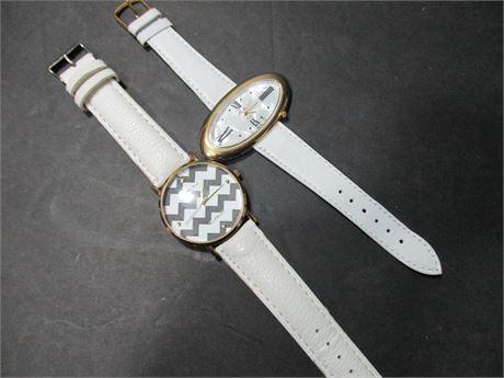 2 New Geneva & Moulin Ladies New Quartz Fashin Watches