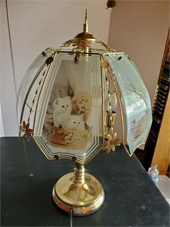 Vintage Touch Lamp Cats
