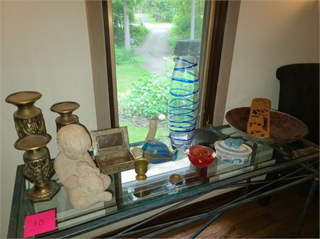Art Glass Candle Holder & Statue