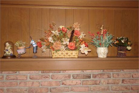 Artificial flower arrangements