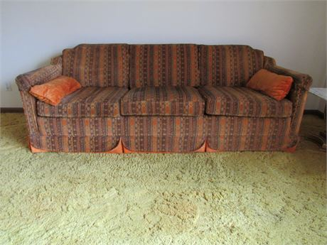 Retro Tapestry Couch Sofa, Vintage by Ross Furnitur