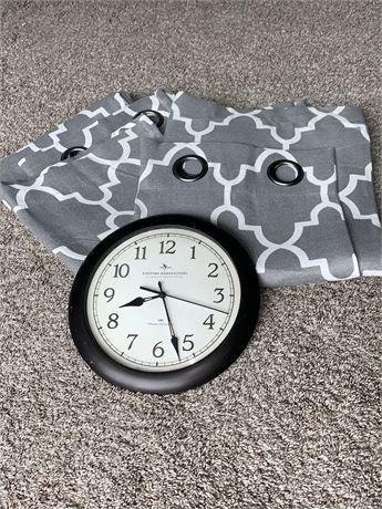Sonoma Panel Curtains & Wall Clock