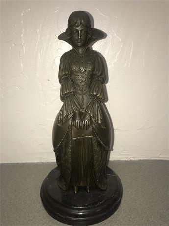 Demetre Chiparus (1886-1947) Victorian Bronze Sculpture Signed by Artist