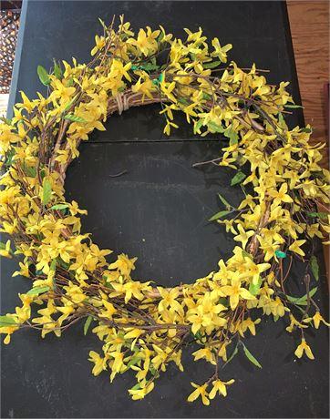 Artificial Forsythia Wreath