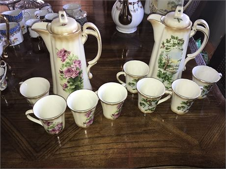 2 Victorian Trading Co. Chocolate Sets with 4 cups each