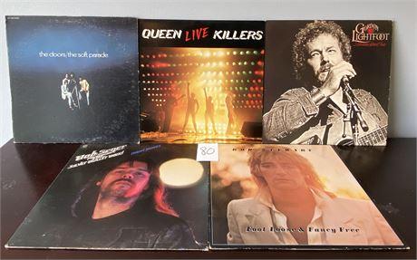 Vintage Vinyl Records Including a Queen Double Album, The Doors, Bob Seger, Etc.