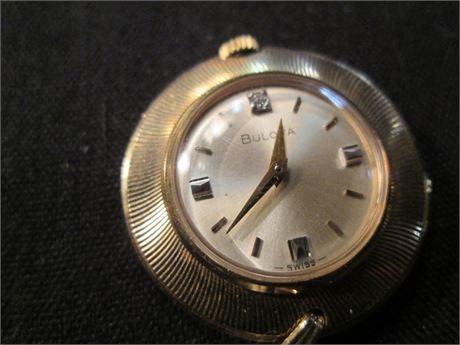 Premium Bulova Ladies Swiss Gold Pendant Watch