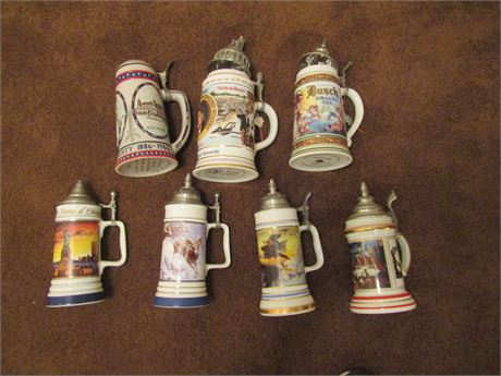 Budweiser Limited Edition Collectable Ceramic Beer Steins - America Series