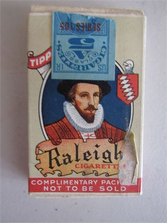 Raleigh Cigarette Complementary Pack