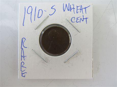 1910 S Wheat Penny Rare