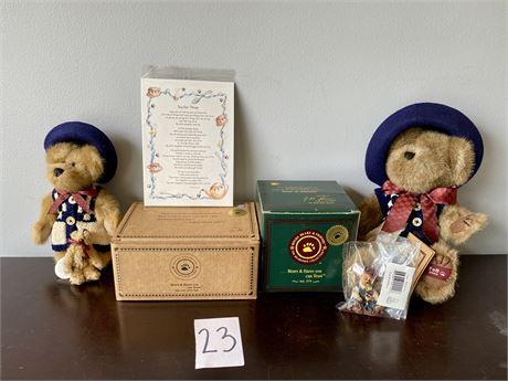 Boyds Bears Catherine Berriweather & Little Scruff Tea Time