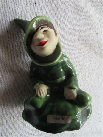 "Vintage 4"" ELBE ART Tuck Pixie Ceramic Figurine Art Collectible"
