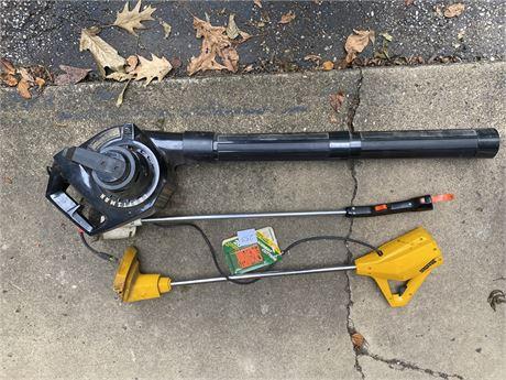 Craftsman Power Blower, Disston Weed Whacker & Black Decker Grass Trimmer