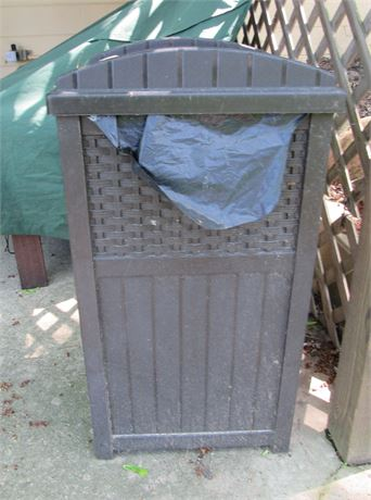 Outdoor Decorative Waste Receptacle