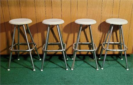 4 MCM Bar Stools - Backless