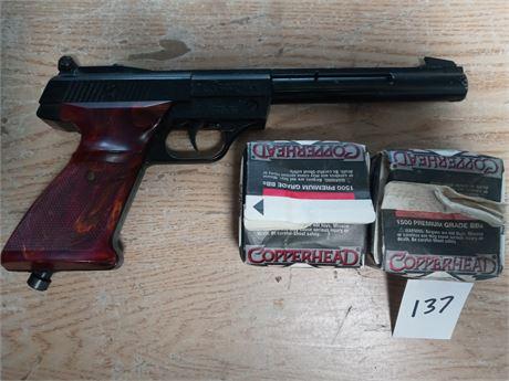 Crosman BB gun pistol and 2 boxes of bb's