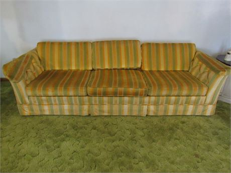 Flexsteel Striped Retro Couch