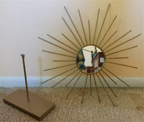 Mid-Century Starburst Mirror as shown