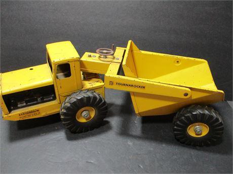 "Vintage 1950's Steel 17"" R G Tourneau Turnarocker Toy Truck Rare Collectible"