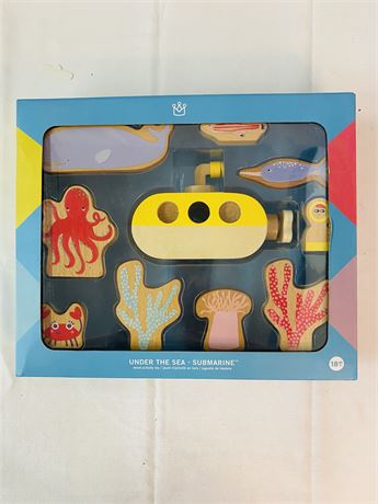 Under The Sea Wood Activity Submarine Toy. By Manhattan Toy Co.