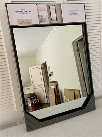 New In Box Wall Mounted Mirror with a Black Frame #2