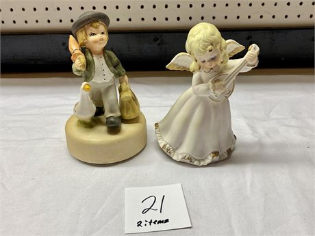 Two Decorative Music Boxes - Work