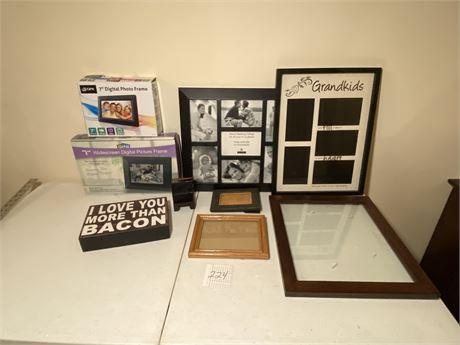 """Frames & Decor Lot Including Two 7"""" Digital Frames"""