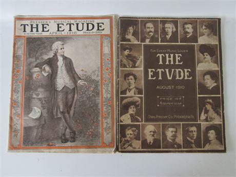 1910 & 1916 Etude Musical Magazine