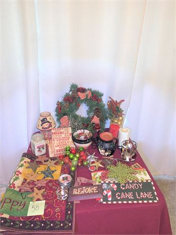 Ceramic Snowman Wax Melter, Christmas Wreath, and More