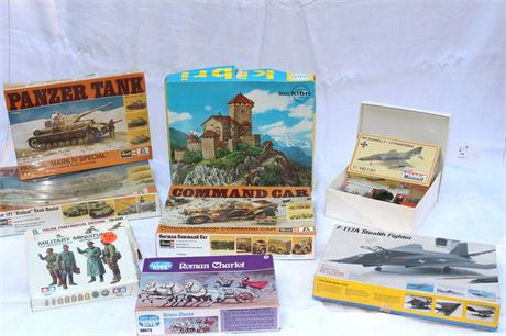 Various Scale Model Kits Mostly War Related