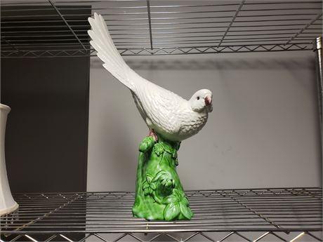 Italian Art Glass Parakeet numbered