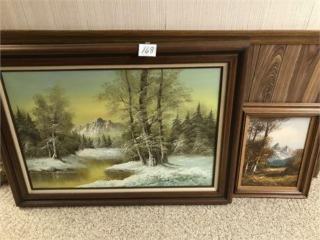 2 Framed Oil on Canvas Landscapes