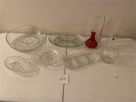Waterford Crystal & Miscellaneous Glass Items