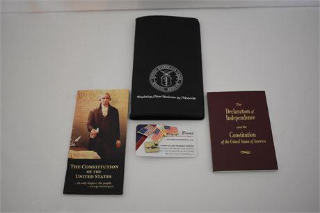Card holder stamped USAF Medical Service and more