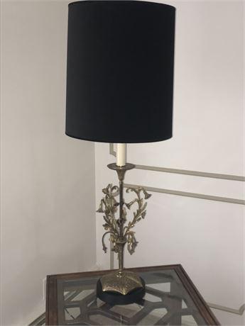 Sculptural Brass Lamp