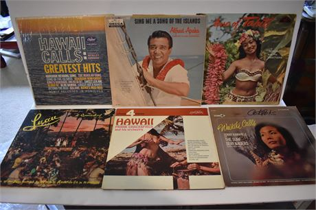 Lot of 6 records from Hawaii