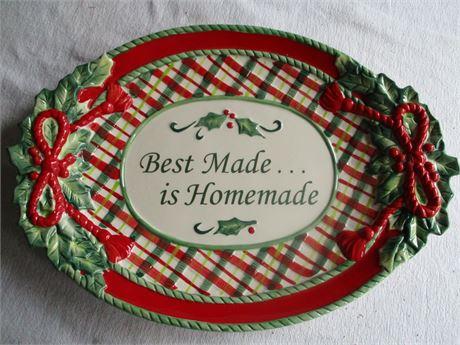 "16"" & 14"" Seasonal Thanksgiving & Christmas Fancy serving Platters"