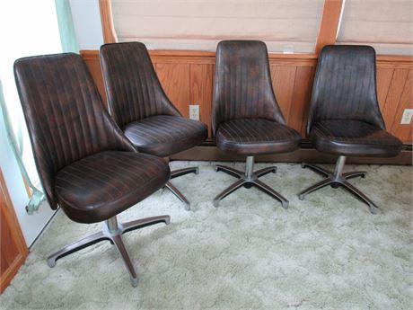 4 Chromecraft Retro Bar Chairs