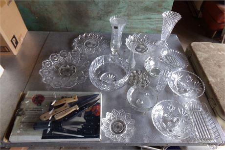 Glassware, knives