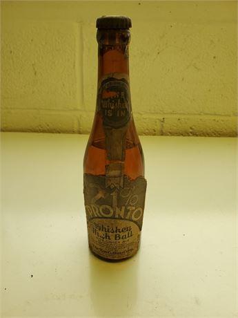 Antique 21% Pronto Whiskey High Ball Bottle