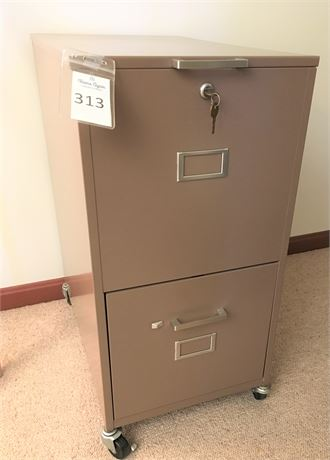 Two Drawer Metal File Cabinet