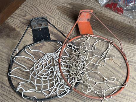 Two Basketball Hoops