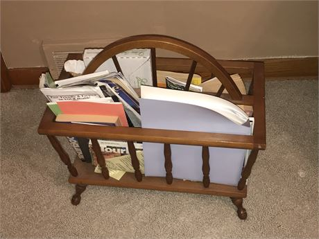 Magazine/Book Rack with All Contents