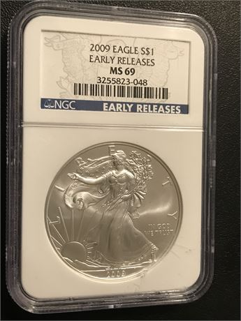 2009 United States Eagle Early Releases NGC MS69