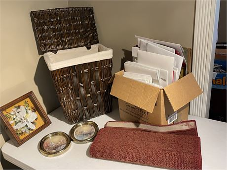 Small Laundry Bin, Gift Boxes, Mat and Home Decor